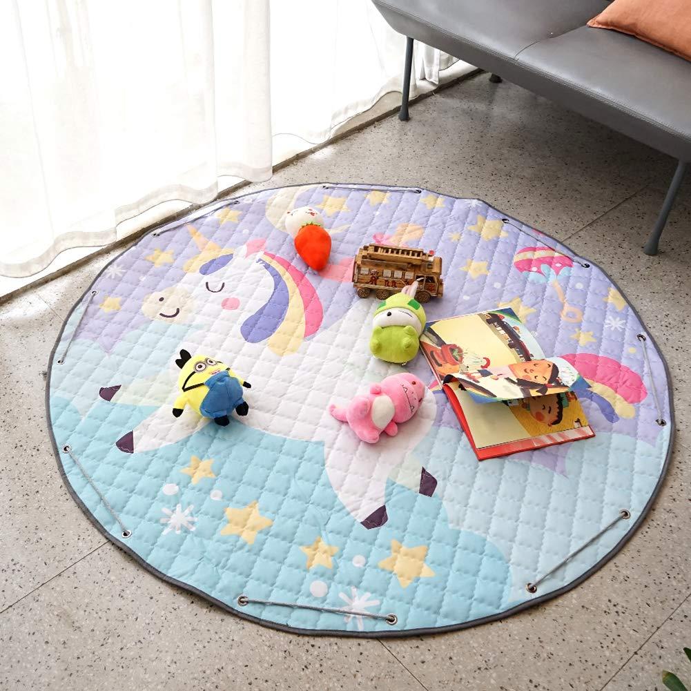 Large Gym Play Mat Toy Storage Dinosaur) YOULERBU 57 Waterproof Baby Kids Play Mat Foldable /& Washable Toddlers Crawling Mat Soft Toys Storage Organizer Children Play Rugs