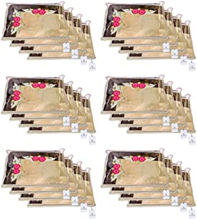 Kuber Industries Non Woven Single Packing Saree Cover 24 pcs Set (Ivory) ,CTKNEW122