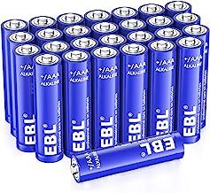 EBL 28-Count AAA Alkaline Batteries - 1.5V Triple A Long-Lasting Alkaline Battery with 10-Year Shelf Life