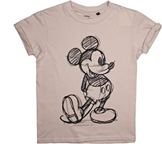 Disney Mickey Mouse Sketch Camiseta para Niñas
