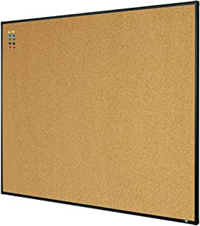 Lockways Bulletin Cork Board, 4 x 3 Notice Message Board 36 x 48 Inch, Black Aluminium Frame U12118782709