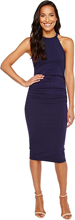 Michael Stars - Halter Midi Dress w/ Shirring