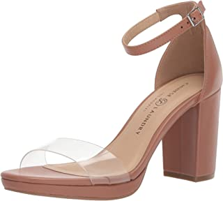 Chinese Laundry Women's TERI Heeled Sandal, Nude/Clear, 8