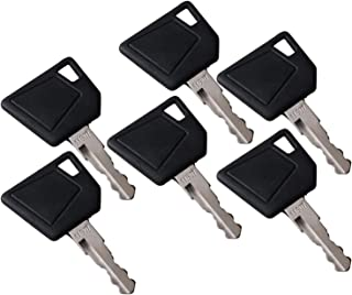 zt truck parts (6) 14607 Ignition Keys for JCB Bomag Dynapac Terex Vibromax New Holland NH Ford Moxy Hamm Volvo