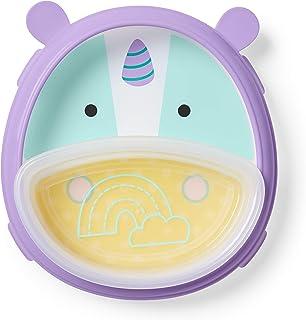 Skip Hop - Juego de plato y tazón para bebé, diseño de unicornio, color morado, azul y amarillo