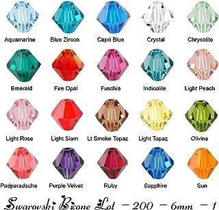 Wholesale Lot 200 bicone 6MM #5328 Swarovski Crystal Beads 20 colors (1)