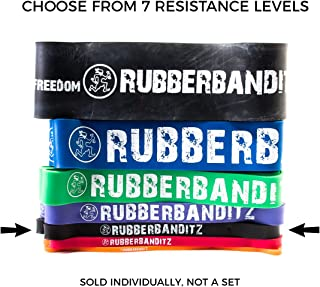 Rubberbanditz Single Pull Up Assit Bands | Heavy Duty Resistance Exercise Bands for Powerlifting, Mobility, and Stretching