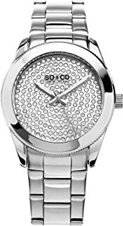 So & Co New York Madison Women's Quartz Watch with Silver Dial Analogue Display and Silver Stainless Steel Bracelet 5067.1