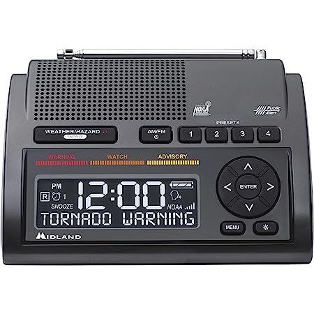 Midland - WR400, Deluxe NOAA Emergency Weather Alert Radio - S.A.M.E. Localized Programming, 80+ Emergency Alerts, & Alarm Clock w/ AM/FM Radio