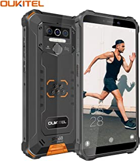 "OUKITEL WP5 (2020) Rugged Cell Phone Unlocked, Android 10 Smartphone 8000mAh Battery IP68 Waterproof, 5.5"" HD+ 4GB 32GB Face ID Fingerprint Triple Camera Global Version 4G LTE GSM AT&T T-Mobile"