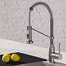 Kraus KPF-1610SS Bolden 18-Inch Commercial Kitchen Faucet with Dual Function Pull-Down Sprayhead in all-Brite Finish, 18 i...