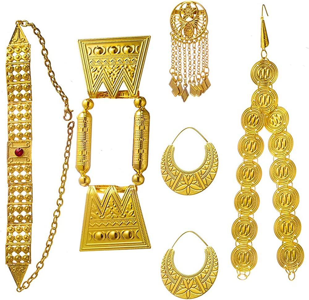Max 52% OFF Gold Color Red Stone Women Jewelry Eritrean Wedding Traditional Sales