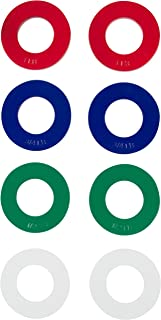 Trademark Innovations Fractional Weight Plates - 2 each of 1/4, 1/2, 3/4, 1 lb. Total Set of 8 by