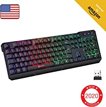 KLIM Chroma Rechargeable Wireless Gaming Keyboard + Slim, Durable, Ergonomic, Quiet,..