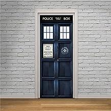 Dr Who Tardis Deur Wrap Politie Openbare Oproep Doos Zelfklevende Deur Sticker HD Behang Deur Muursticker Stickers Muur Ar...