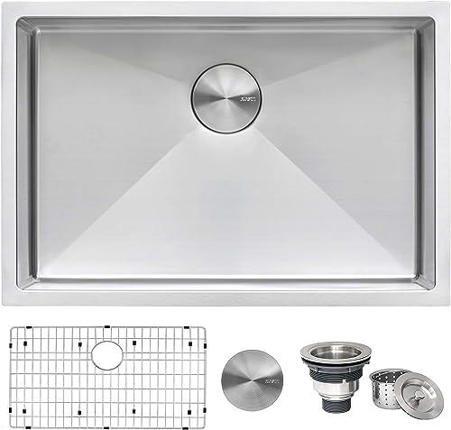 Ruvati 28-inch Undermount 16 Gauge Tight Radius Stainless Steel Kitchen Sink Single Bowl - RVH7250