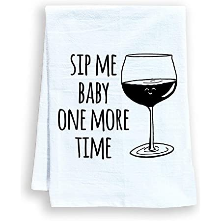 I Make Wine Disappear Dish Towel Kitchen Tea Towel Funny Saying Humorous Flour Sack Towels Great Housewarming Gift 28 Inch By 28 Inch 100 Cotton Multi Purpose Towel Home Kitchen