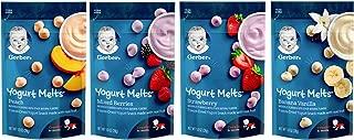 Gerber Graduates Yogurt Melts - Variety Pack - Bundle of 4 (Banana Vanilla, Peach, Strawberry, Mixed Berries)