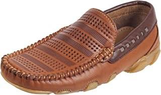 Mochi Boys Tan Synthetic Loafers (46-5190)