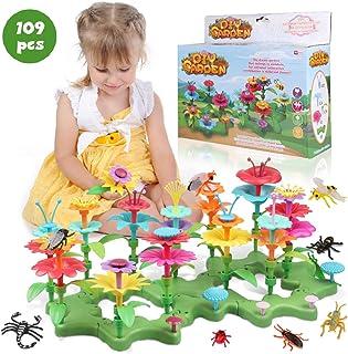 Lydaz 109 PCS Flower Garden Building Toys for Girls, STEM DIY Craft Toys - Kids Flower Educational Pretend Gardening Plays...