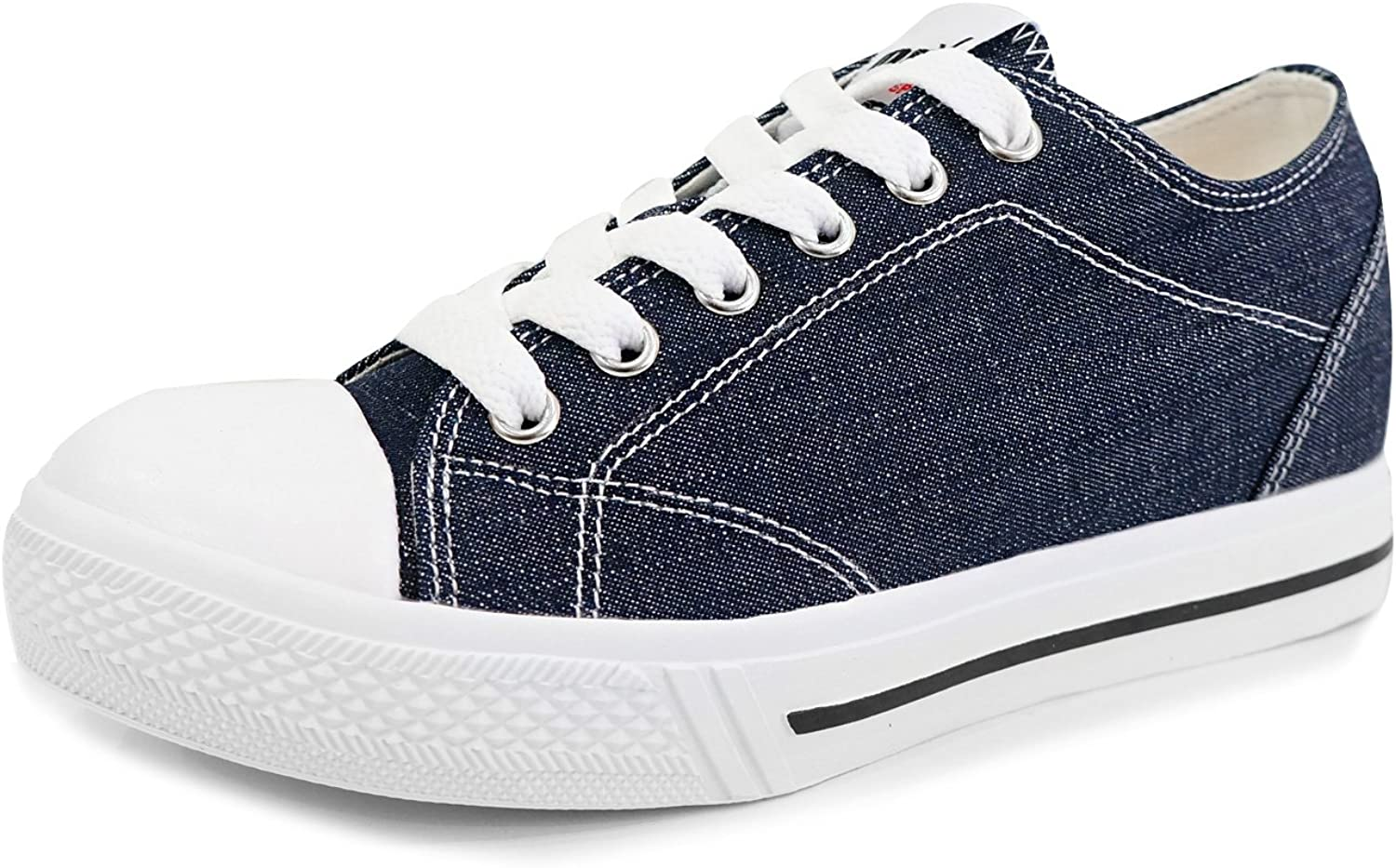 MNX15 Women's Elevator shoes Height Increase 1.9  Spotty Navy