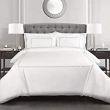 Lush Decor, Gray Hotel Geo 3 Piece Duvet Cover Set, Full/Queen