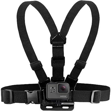 Imbracatura da Petto Supporto da Petto Compatibile con GoPro Hero e Action Camera - Cinturino pettorale Completamente Regolabile