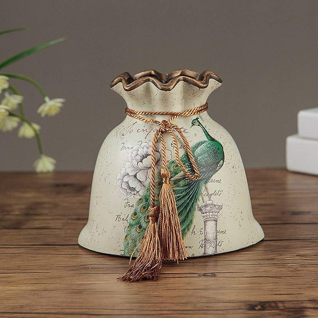 ご覧ください気になるキロメートル花瓶 パーソナライズされたセラミック花瓶リビングルームフラワーアレンジメントクリエイティブファッションフレッシュフラワー小テーブル花瓶 (Color : A, Size : 16*17cm+27*19)