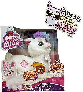 Pets Alive Boppi Booty Shakin Llama Twerking and Shaking Head bundled with Not My Prob-Llama Sticker by GeLeLa