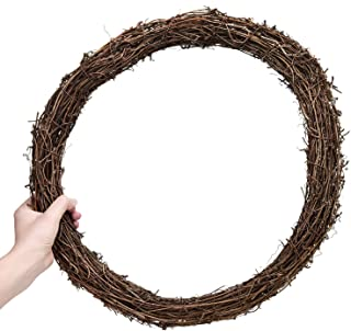 AQUEENLY Grapevine Wreath, 15.7 Inch Twigs Wreath DIY Vine Wreath Decorations for Front Door Wall Hanging