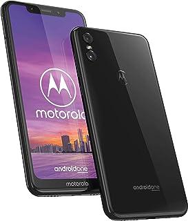 Motorola One - Smartphone Android One (pantalla de 5.9'' ratio 19:9, cámara dual de 13 MP, 4 GB de RAM, 64 GB, Dual Sim), color negro  [Versión española]