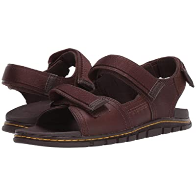 Dr. Martens Athens Sandal (Tan/Dark Brown Carpathian/Webbing) Sandals
