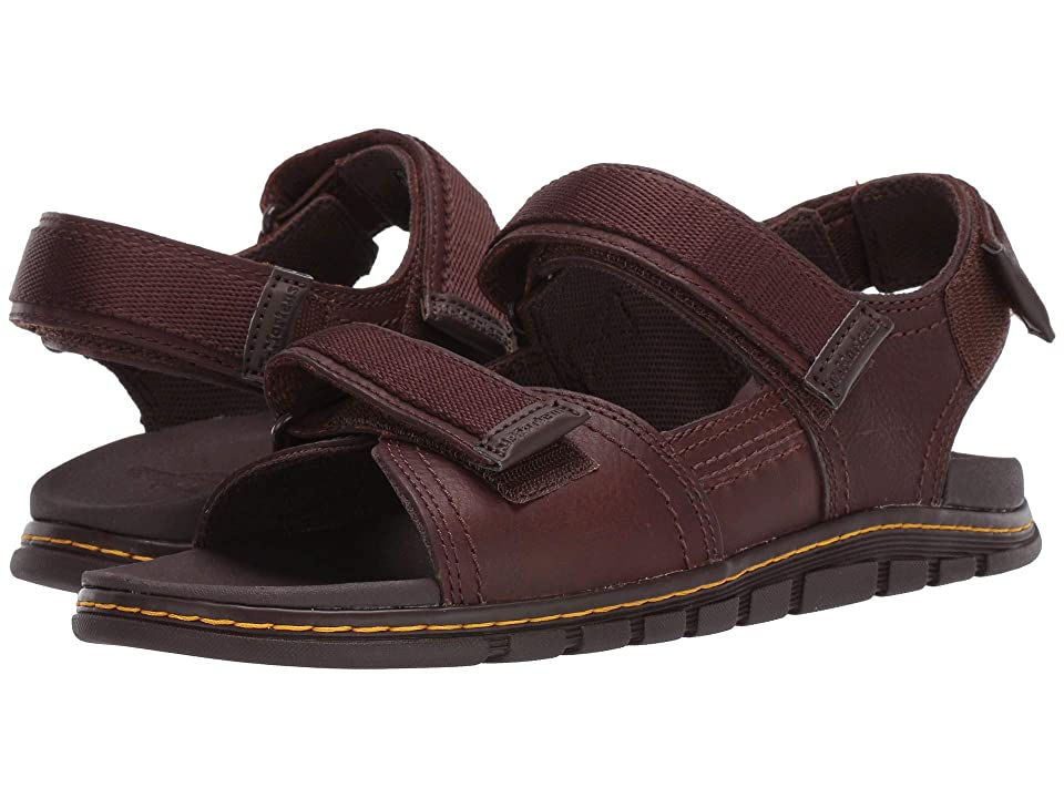 Dr. Martens Athens Sandal (Tan/Dark Brown Carpathian/Webbing) Sandals