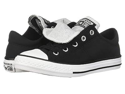 Converse Kids Chuck Taylor All Star Maddie Metallic Slip (Little Kid/Big Kid) (Black/White/White) Girls Shoes