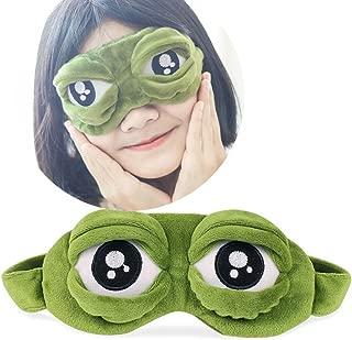 NszzJixo9 Frog Eye Mask Cute Eyes Cover The Sad 3D Eye Mask Cover Sleeping Rest Sleep Anime Funny Gift Travel Sleeping Aircraft