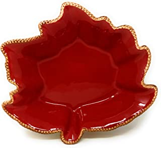 Temp-tations Harvest Maple Leaf Casserole Bakeware or Serving Bowl, Choose a Size (2 Quart) P-3