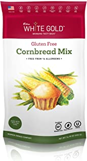 Extra White Gold Gluten Free Cornbread Mix – For Bread Muffins Cornbread – [Plant Based] [Gluten Free] [Allergy Free] [Soy...