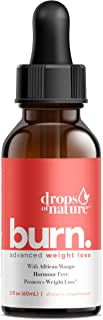 Keto Burn Drops for Weight Loss – Keto Supplement with African Mango – Promotes Weight Loss, Metabolism Booster, Suppress ...