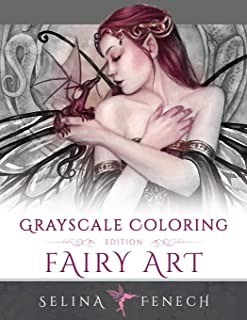 Fairy Art - Grayscale Coloring Edition (Grayscale Coloring Books by Selina) (Volume 1)