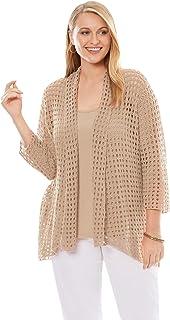 Women's Plus Size Crochet Cardigan Sweater