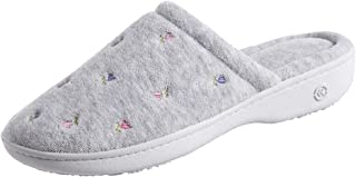 isotoner Women's Signature Terry Floral-Embroidered Slipper