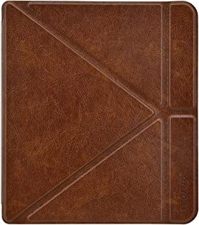 MOSISO PU Leather Case Compatible with 2018 Kobo Forma 8 Inch E-Reader, Slim Protective Smart Folio Shell Cover with Magnetic Closure and Stand Function, Brown