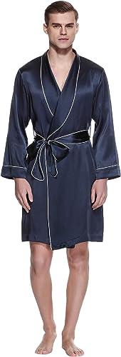 LILYSILK Robe de Chambre pour Homme Pure Soie Peignoir en Soie Homme Luxe 22  me