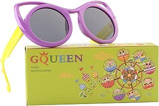 GQUEEN Rubber Flexible Kids Cateye Polarized Sunglasses...