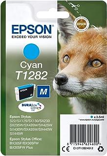Epson T1282 Cyan Fox oryginalny wkład atramentowy DURABrite, gotowy do uzupełniania Amazon Dash