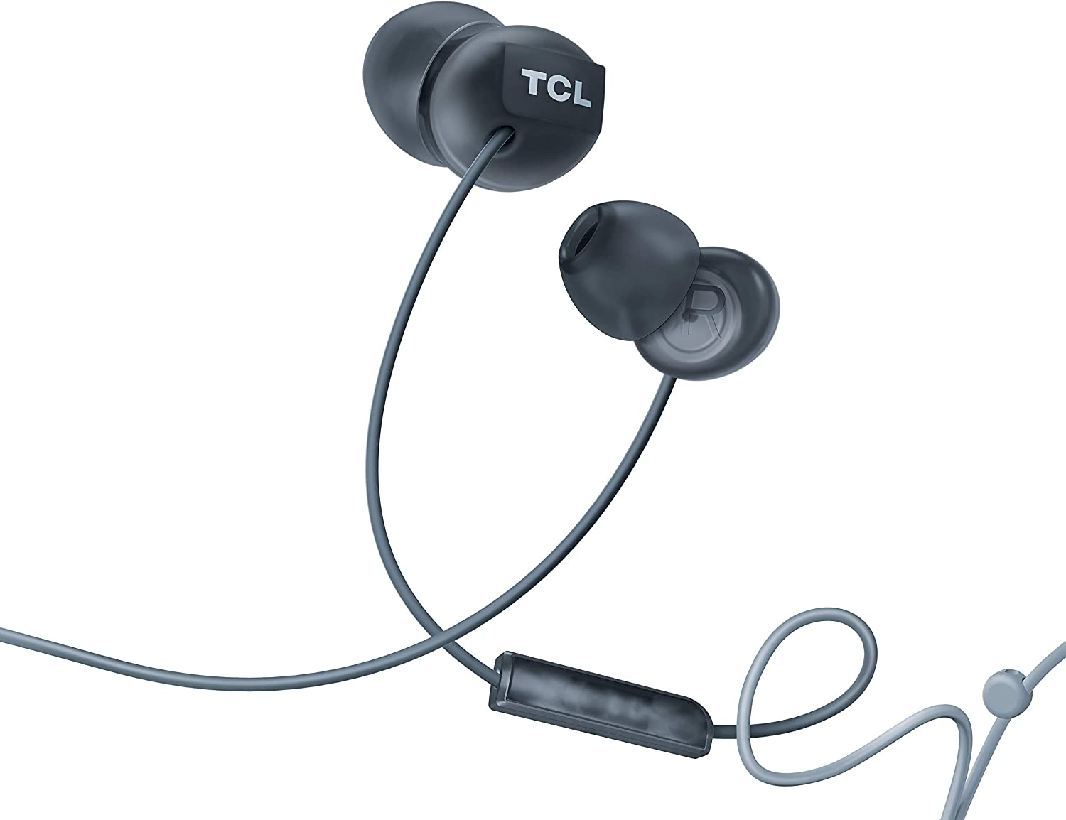 TCL Socl300 in-Ear Earbuds Wired Noise Isolating Headphones with Built-in Mic and Echo Cancellation - Phantom Black
