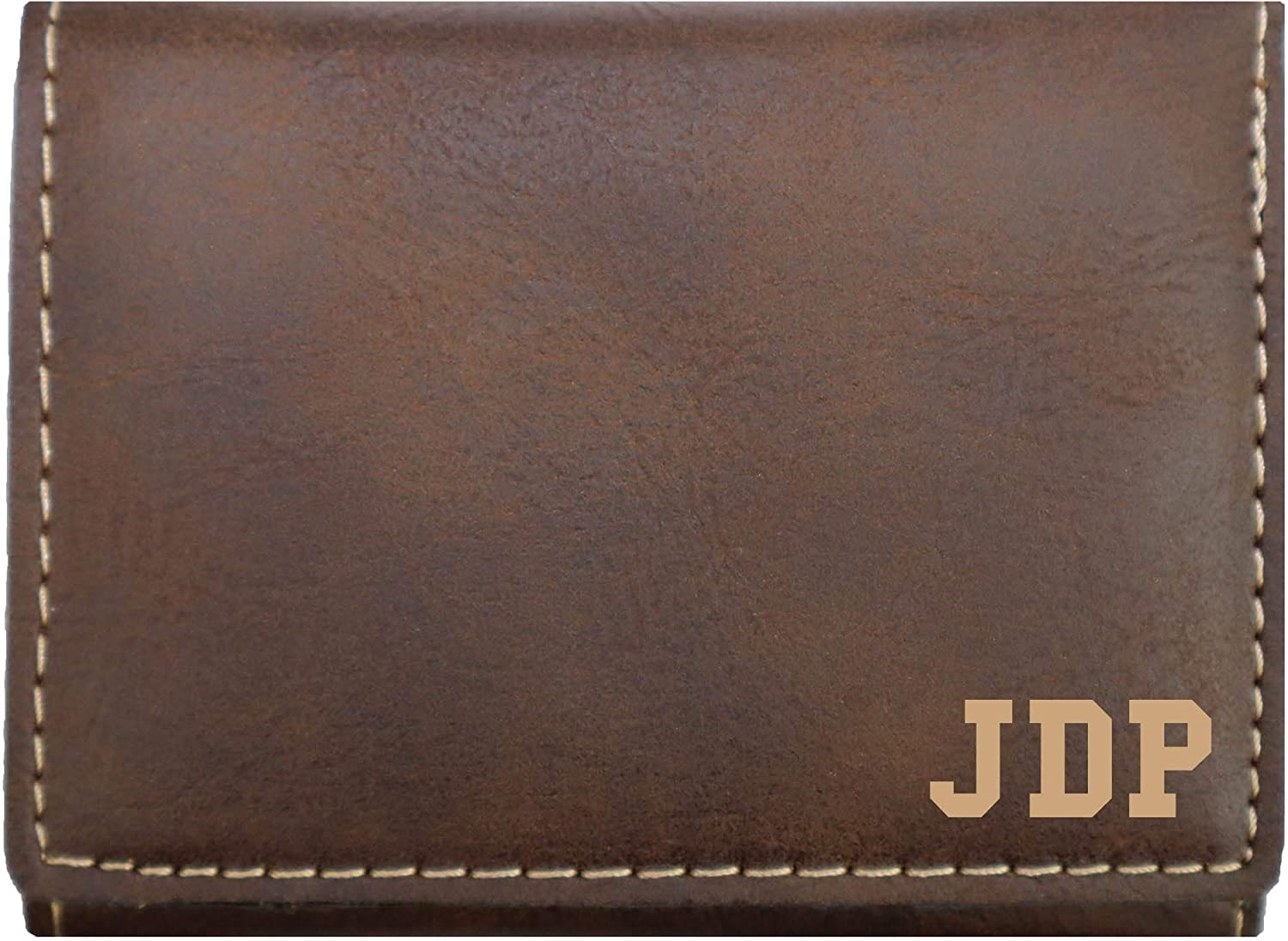 Personalized Trifold Wallet (Rustic/Gold)