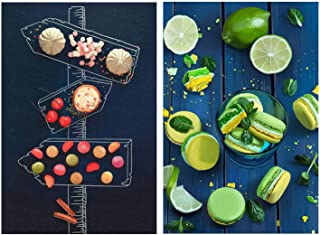 Jigsaw Puzzles Set of 2 Food Macaron Delicious Food signpost 1000 Pieces Puzzles for Adults Kids - Fun Game Gift JCXOZ Toy...