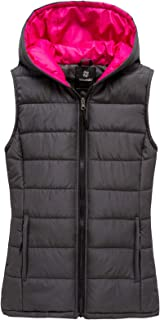 Women's Hooded Quilted Padding Vest Sleeveless Puffer Jacket