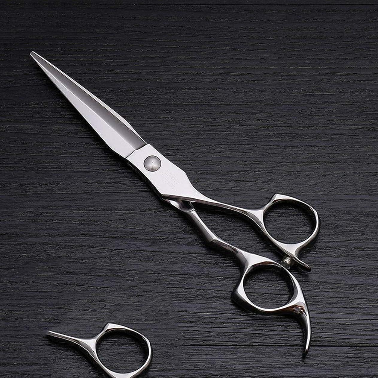モス起きろ郊外6インチハイエンドステンレススチール理髪はさみツール、美容院特別理髪フラットせん断ツール モデリングツール (色 : Silver)